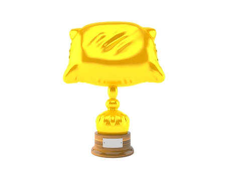 Pillow trophy isolated on white background. 3d illustration