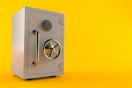Safe isolated on orange background. 3d illustration