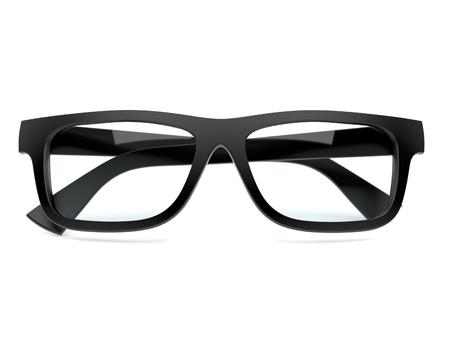 Glasses isolated on white background. 3d illustration