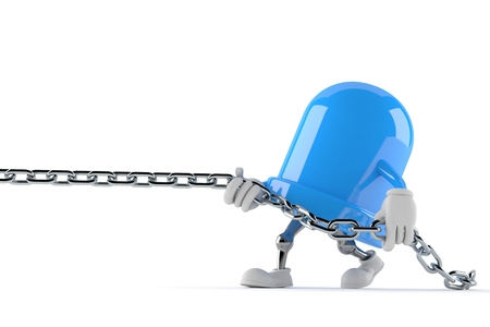 LED character pulling chain isolated on white background. 3d illustration Stock Photo