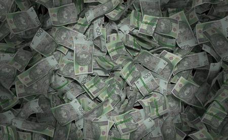 Stack of polish currency. 3d illustration Reklamní fotografie