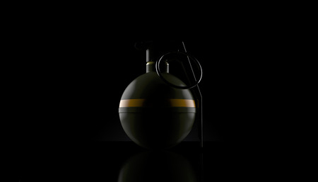 Hand grenade on black background. 3d illustration Reklamní fotografie