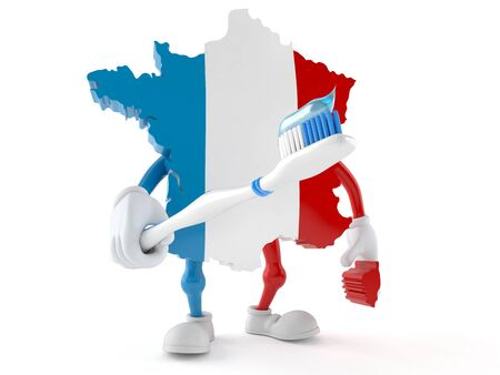 France character isolated on white background. 3d illustration