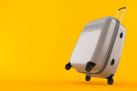 Suitcase isolated on orange background. 3d illustration Stock fotó