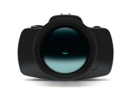 Camera isolated on white background. 3d illustration
