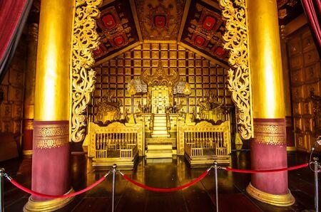asian golden throne Editorial
