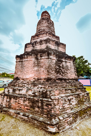 public domain: ancient remains of  sukhothai historical park Thai,statue in religion Thailand , are public domain ,no restrict in copy or use . This photo taken these conditions Stock Photo