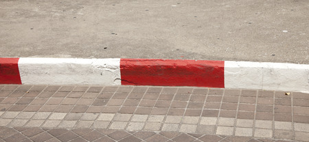 road barrier: Red and white road barrier Stock Photo