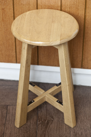 stool: Old wooden stool