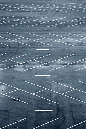 tred: Aerial view of an empty carpark in Bangkok