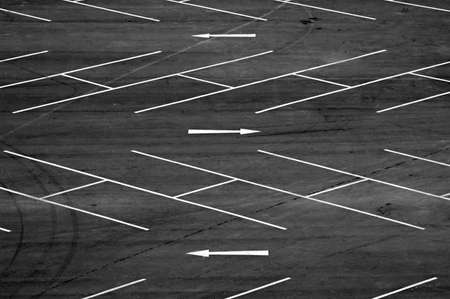 Abstract from an aerial view of empty carpark photo