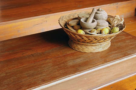 Traditional hospitality tray of betel nut in Thailand photo
