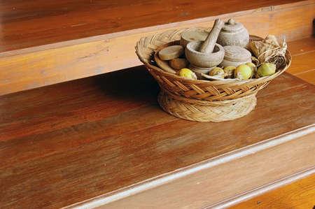 betelnut: Traditional hospitality tray of betel nut in Thailand Stock Photo
