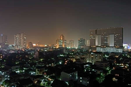 Night view of northern part of Bangkok Stock Photo - 642497