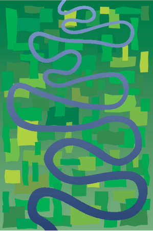 meandering: Abstract design of a meandering river Illustration