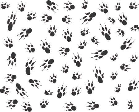 scamper: Vector design of dog paw prints
