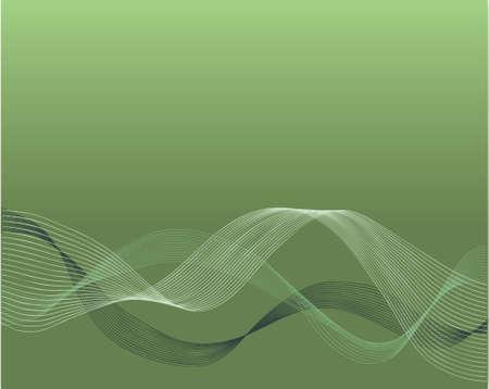 グリーンにおける波形のベクトルのデザイン  イラスト・ベクター素材