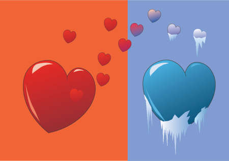 unrequited love: Vector design of unrequited love Illustration