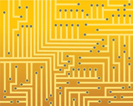 compute: Abstract vector background of a circuit board Illustration