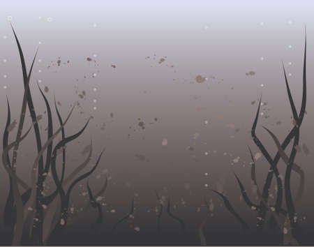 water weed: Vector background of murky underwater world