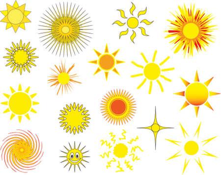 sun vector: Collection of vector sun designs Illustration