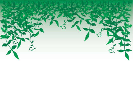 Vector frame of leafy vegetaion Vector