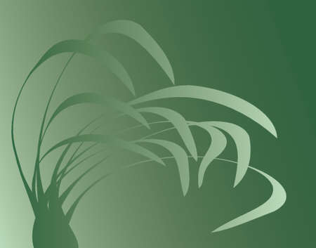 waft: Vector background of plants blowing in the breeze