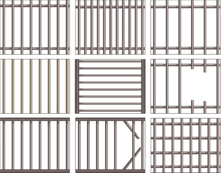 jailhouse: Various vector designs of prison bars and grills