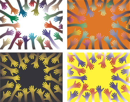 handout: Vector backgrounds of rings of hands