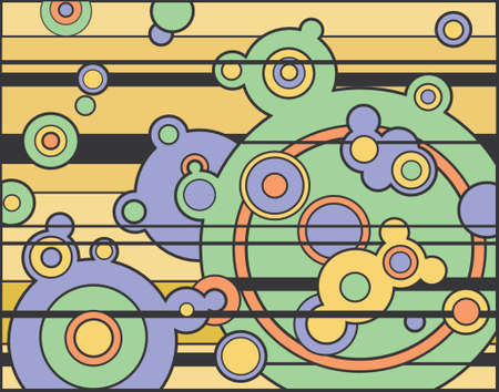 Abstract retro vector background of circles Vector