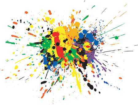 Vector design of colorful paint spill grunge