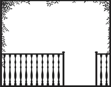 Vector illustration of an open porch frame