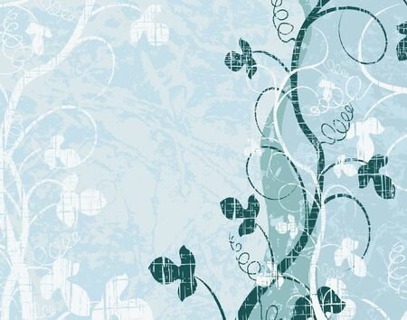 Background vector illustration of plants and grunge