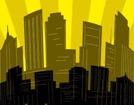 Editable vector design of a city skyline Stock Vector - 1657462