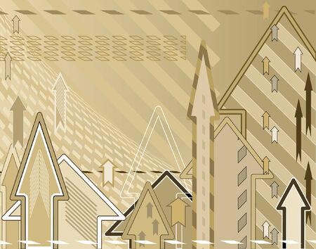 Editable vector abstract background design of arrows Ilustração