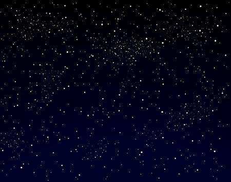 Editable ilustración vectorial de un cielo estrellado