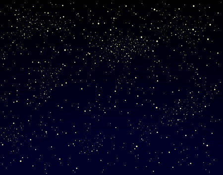 Editable vector illustration of a starry sky Stock Vector - 2181086