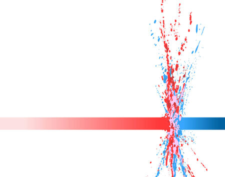 Abstract editable vector illustration of paint colliding Vetores