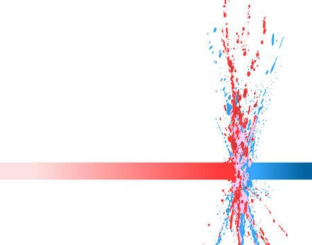 Streszczenie edycji ilustracji wektorowych farby zderzanie Ilustracje wektorowe