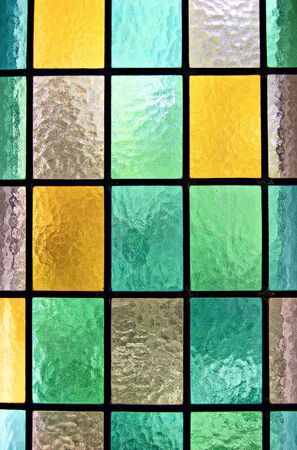 colored window: Decorative window of various colored rectangles