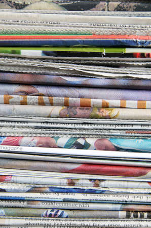 Pile of old newspapers ready for recycling Stock Photo - 3536547