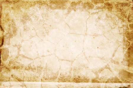 deteriorate: Blank stained page from an old book with crack pattern