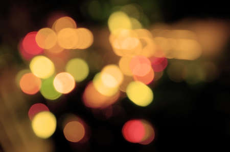 Abstract background of colorful blurred street lights photo