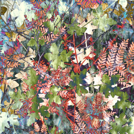 autmn: Colorful design of mixed plants in autmn colors