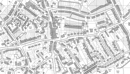 Editable vecteur illustre la carte du logement dans la ville générique