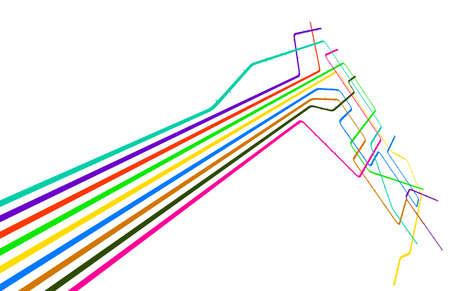 Vectoriel éditable conception d'un système générique de métro, avec copie espace