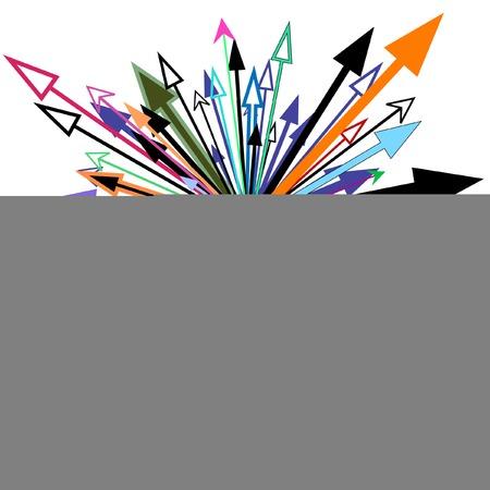 Resumen editable elemento de diseño vectorial de las flechas