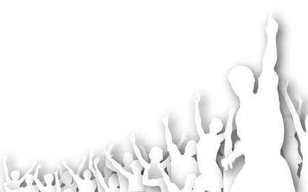 Illustration of a crowd of cutout silhouettes Stock Illustration - 6997350
