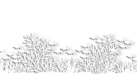 Illustration of a sea coral silhouette foreground Stock Illustration - 6997405