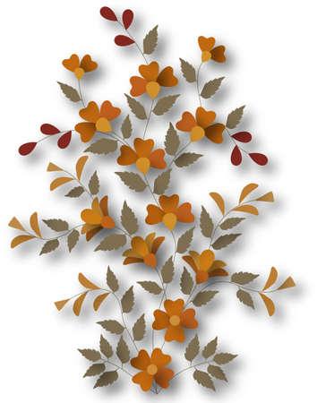 flowering plant: Illustrazione di un PiantaDaFiore con ombra